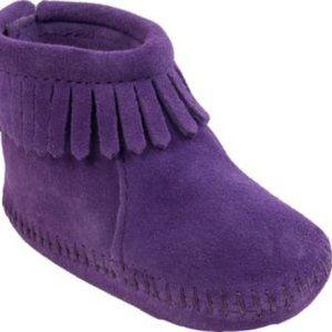 Minnetonka Purple Infant's Back Flap Booties